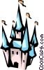 Vector Clipart picture  of a Disney castle