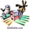 Vector Clipart picture  of a Farm