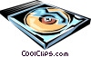 Vector Clipart image  of a CD-ROM disk