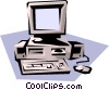 Vector Clipart graphic  of a Stand-alone computer