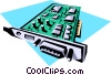 Vector Clip Art graphic  of a Computer card