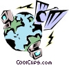 Vector Clipart picture  of a Telecommunications