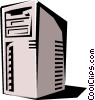 Vector Clip Art picture  of a Computers