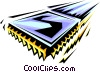 Vector Clipart graphic  of a Computer chip