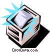 Vector Clipart picture  of a Computer printer