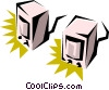 Vector Clipart graphic  of a Computer speakers