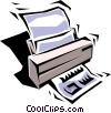 Vector Clipart illustration  of a Printer