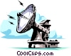 Vector Clipart picture  of a Dish antenna