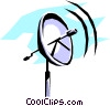 Vector Clip Art picture  of a Dish antenna