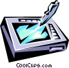 Vector Clipart graphic  of a Pen computing