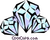 Vector Clip Art image  of a Diamonds