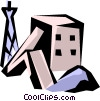 Vector Clip Art picture  of a Mine shaft