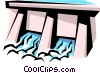 Dam Vector Clip Art graphic