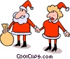 Vector Clip Art picture  of a Santa Claus & Mrs. Claus