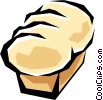 Vector Clipart graphic  of a Loaf of bread
