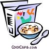 Vector Clip Art graphic  of a Breakfast cereal