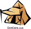 Pup tent Vector Clip Art graphic