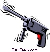 Vector Clipart illustration  of a Electric drill