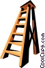 Vector Clip Art graphic  of a Stepladder