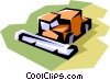 Vector Clip Art picture  of a Combines