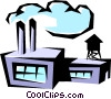 Vector Clip Art image  of a Factories