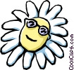 Cartoon flower Vector Clipart graphic