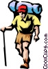 Hiker Vector Clipart graphic