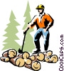 Lumberjack Vector Clipart illustration