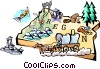 Vector Clip Art graphic  of a Oregon vignette map