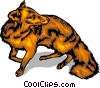 Vector Clipart graphic  of a Fox