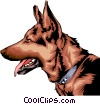 Vector Clip Art image  of a German Shepherd