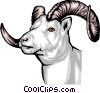 Mountain Goat Vector Clipart picture