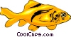 Vector Clipart graphic  of a Goldfish