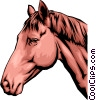Vector Clipart graphic  of a Horse head