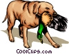 Vector Clipart image  of a Hunting dog