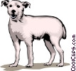 Vector Clipart graphic  of a Terrier dog