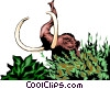 Vector Clipart graphic  of a Mammoth