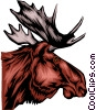 Vector Clipart graphic  of a Moose head