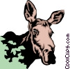 Vector Clip Art graphic  of a Moose