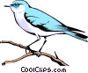 Mountain Bluebird Vector Clip Art image