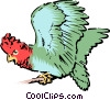 Vector Clip Art picture  of a Parrot
