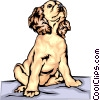 Vector Clipart picture  of a Spaniel