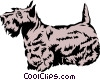Vector Clip Art image  of a Scottish terrier