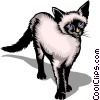 Vector Clip Art picture  of a Siamese cat