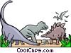 Vector Clipart graphic  of a Dinosaurs for kids