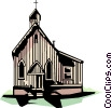 Vector Clipart image  of a Country church
