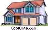 Vector Clip Art image  of a Home
