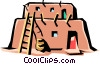 Vector Clipart illustration  of a Pueblo