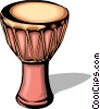 Vector Clip Art picture  of an African drum