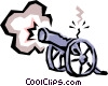 Vector Clip Art graphic  of a Cannons
